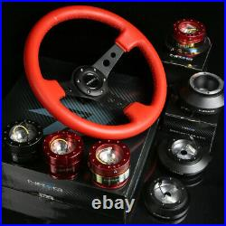 Nrg 130h Hub+carbon Gen1.5 Quick Release+3deep Dish Red Leather Steering Wheel