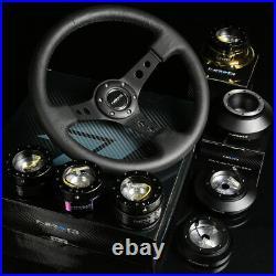 Nrg 130h Hub+carbon Gen 1.5 Quick Release+3dish Leather Steering Wheel Black