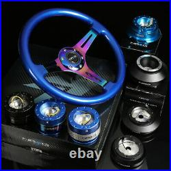 Nrg 130h Hub+gen 1.5 Quick Release+3deep Dish Iridium Spoke Steering Wheel Blue