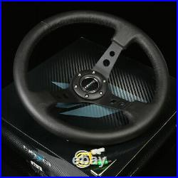 Nrg 130h Hub+gen 1.5 Quick Release+3deep Dish Leather Steering Wheel Black