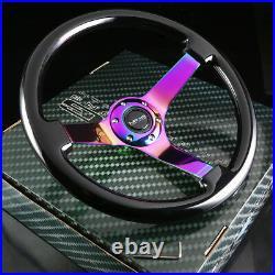 Nrg 130h Hub+gen 2.0 Quick Release+3deep Dish Black Wood Steering Wheel Iridine