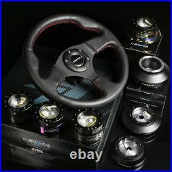 Nrg 130h Hub+gold Chrome Gen2.0 Quick Release+red Stitch Steering Wheel Black
