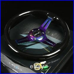 Nrg 130h Hub+purple Gen 2.0 Quick Release+3dish Iridium Steering Wheel Black