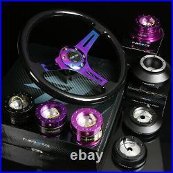 Nrg 130h Hub+purple Iridium Gen2.8 Quick Release+dish Dish Steering Wheel Black