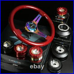 Nrg 130h Red Hub+gen 1.5 Quick Release+3deep Dish Iridium Spoke Steering Wheel