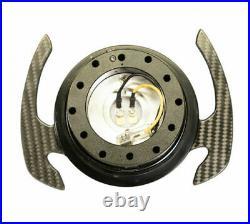 Nrg Ball Lock Quick Release Gen 4.0 Black Body & Carbon Fiber Paddle Srk-700cf