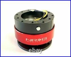 Nrg Quick Release Gen 2.0 Black Body Red Ring & Hardware (srk-200bk-rd)