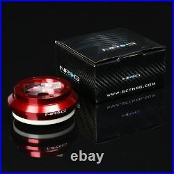 Nrg Red Steering Wheel Short Hub+gen 2.5 Quick Release Black Chrome For Prelude