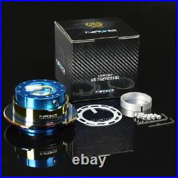 Nrg Short Hub+gen 2.5 Quick Release New Blue+iridium Ring For S2k Prelude Fit