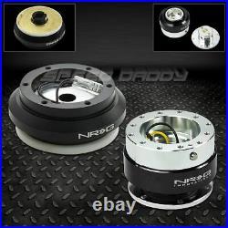 Nrg Steering Wheel Short Hub+gen 1.0 Black Quick Release Kit 96-11 Civic/s2000