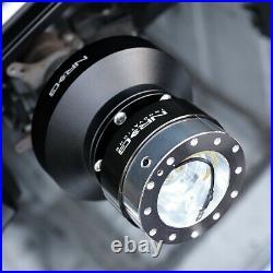 Nrg Steering Wheel Short Hub+gen 1.5 Quick Release Titanium For S2k Prelude Fit