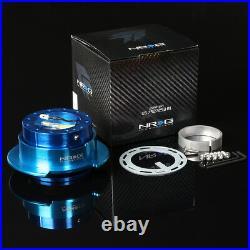Nrg Steering Wheel Short Hub+gen 2.5 Quick Release New Blue For S2k Prelude Fit