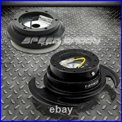Nrg Steering Wheel Short Hub+gen 3.0 Black Quick Release Kit 96-11 Civic/s2000