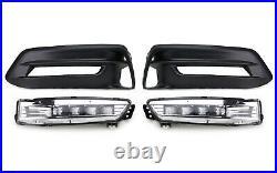 OEM Spec White LED Fog Light Kit, with Bezel, Wiring For 2018-up Honda Accord Sedan
