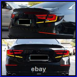 Pair LED Tail Lights For Honda Accord 10Th Gen 2018-2022 Sequential Rear Lamps