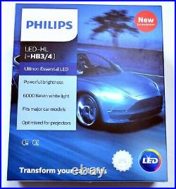 Philips Ultinon LED G2 6000K White 9006 HB4 Two Bulbs Head Light Low Beam Fit OE