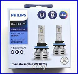Philips Ultinon LED G2 6500K White H11 Two Bulbs Fog Light Replace OE Fit Lamp