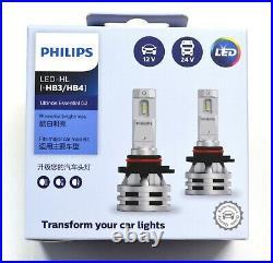 Philips White LED G2 Fan Canceller 9005 HB3 Two Bulbs Light DRL Daytime Lamp Kit
