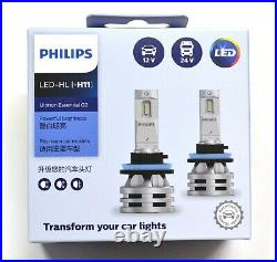 Philips White LED G2 Fan Canceller H11 Two Bulbs Head Light Low Beam Replacement