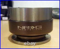 SALE NRG GEN 2.0 QUICK RELEASE ADAPTER Gunmetal Body Titanium Ring