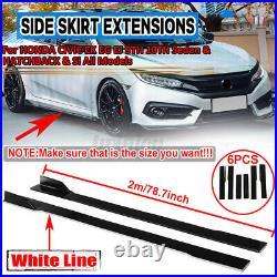 Side Skirt Extensions For Honda Accord Civic Hatchback Si Type-R 10th Gen Sedan