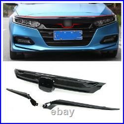 Sport Style Front Grille Glossy For 2018-2019 10th Gen Honda Accord Sedan JDM