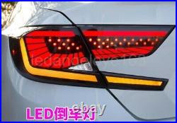 Tenth Generation LED Strip Tail Lights 2017-2019 year For Accord G10 Dark Red