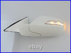 White Auto Power Folding Mirrors With wiring for HONDA ACCORD 08 12 8th Gen